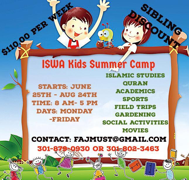 ISWA Summer Camp kids