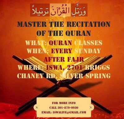 Quran class sundays